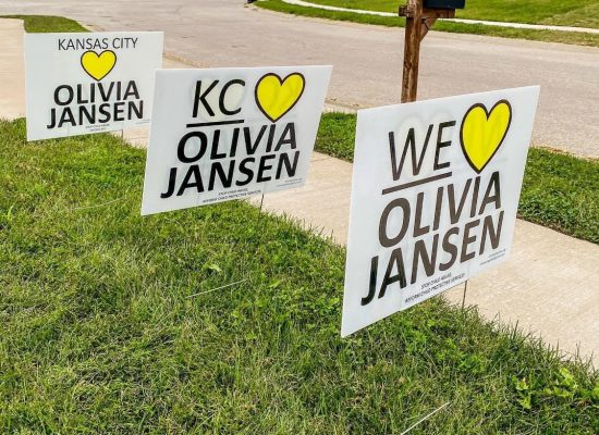 CASA fundraiser/signs for Olivia Jansen